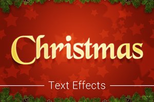 Christmas Text Effects Mockup