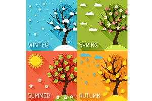 Seasonal illustrations.