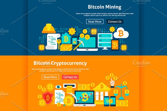 Bitcoin Banners in Illustrations - product preview 2