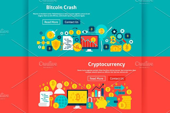 Bitcoin Banners in Illustrations - product preview 4