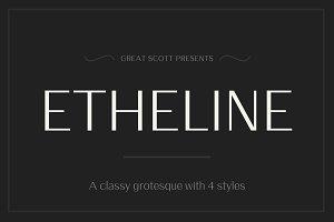 Etheline - A classy Grotesque Sans