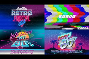 80's Retro banners and posters