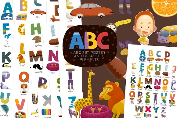 ABC and poster