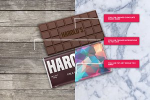 Chocolate Bar Pack Mock-Ups