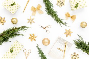 Texture made of gold Christmas