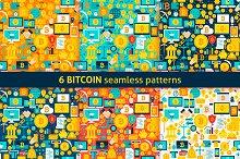 Bitcoin Flat Seamless Patterns