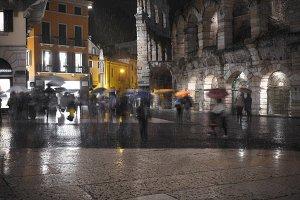 Verona rainy night