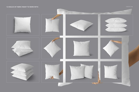 Fabric Factory vol.2: Pillow Mockup in Product Mockups - product preview 2