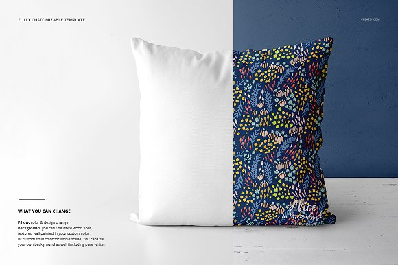 Fabric Factory vol.2: Pillow Mockup in Product Mockups - product preview 5