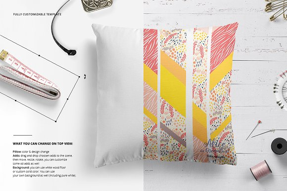 Fabric Factory vol.2: Pillow Mockup in Product Mockups - product preview 6