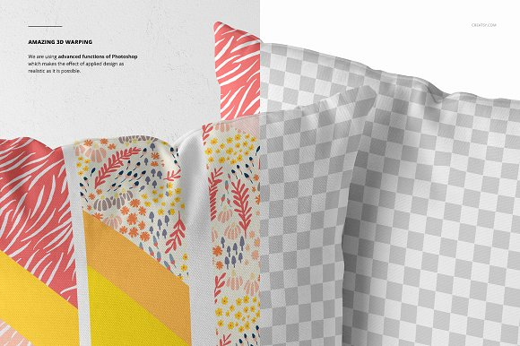 Fabric Factory vol.2: Pillow Mockup in Product Mockups - product preview 7