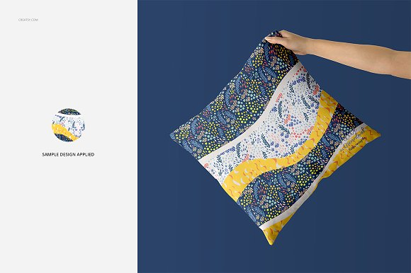 Fabric Factory vol.2: Pillow Mockup in Product Mockups - product preview 9