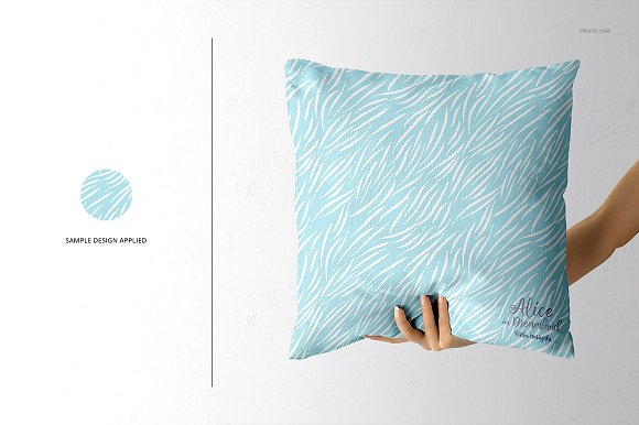 Fabric Factory vol.2: Pillow Mockup in Product Mockups - product preview 11