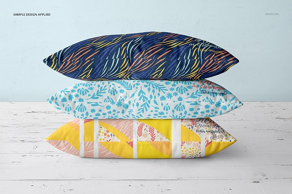Fabric Factory vol.2: Pillow Mockup in Product Mockups - product preview 12