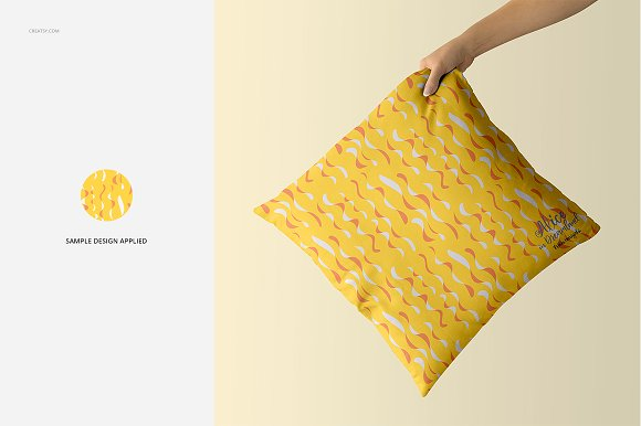 Fabric Factory vol.2: Pillow Mockup in Product Mockups - product preview 13