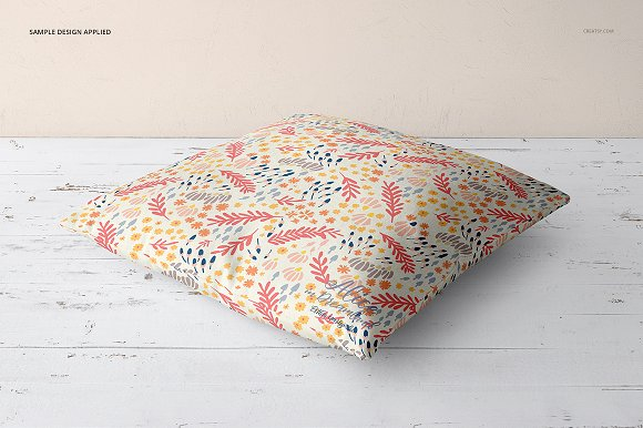 Fabric Factory vol.2: Pillow Mockup in Product Mockups - product preview 14