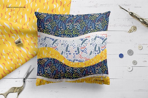 Fabric Factory vol.2: Pillow Mockup in Product Mockups - product preview 20