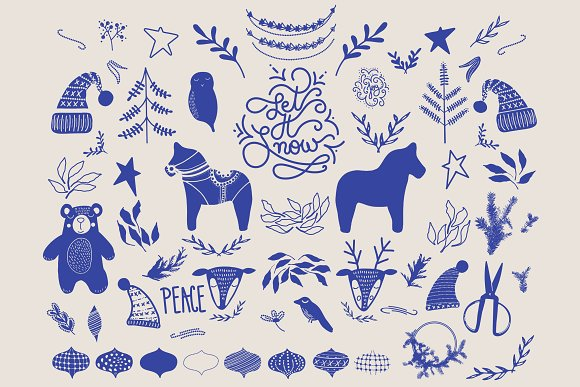 Nordic Christmas Illustrations in Illustrations - product preview 1