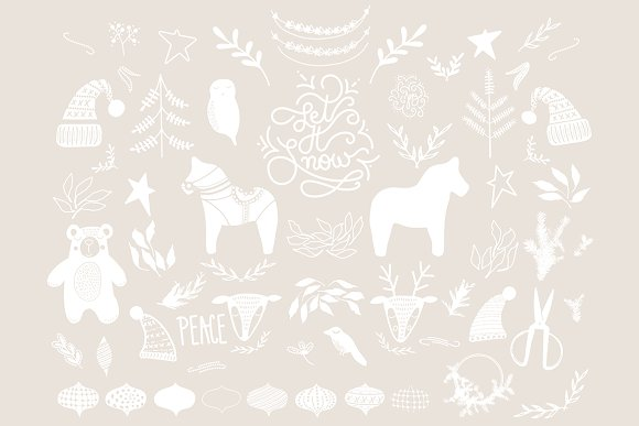 Nordic Christmas Illustrations in Illustrations - product preview 2