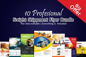 10 Freight Flyer Bundle Vol:01