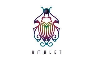 Egyptian jewel scarab logo