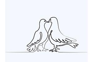 Two pigeons logo