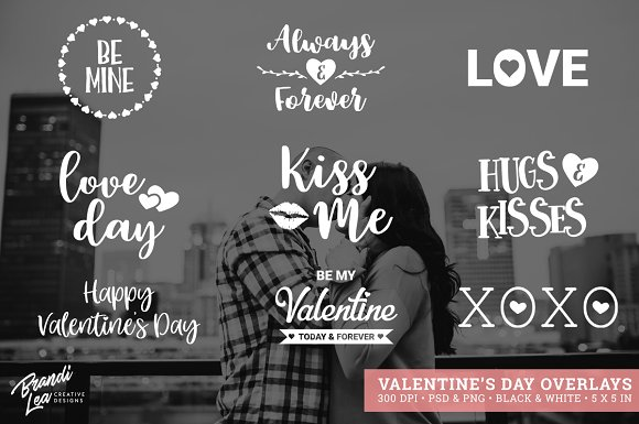 Valentine's Day Photography Overlays