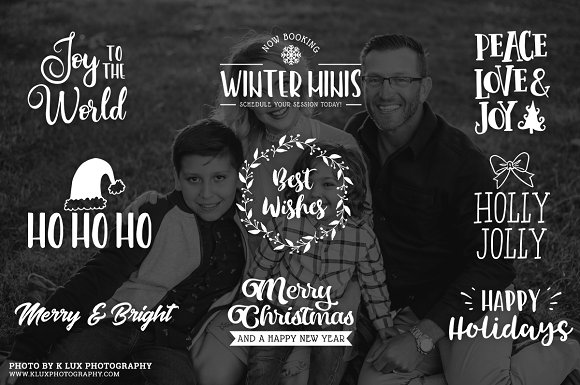 Gold Foil Christmas Photo Overlays in Illustrations - product preview 1