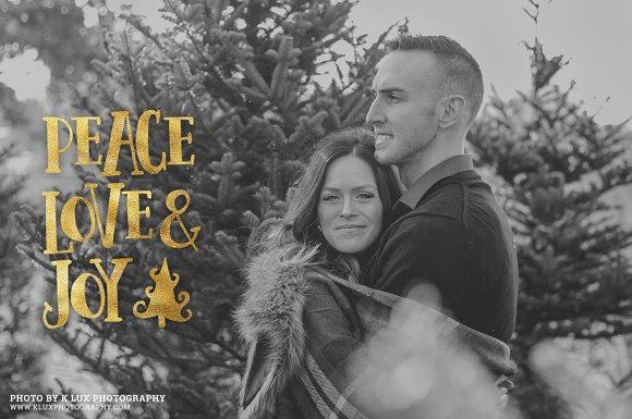 Gold Foil Christmas Photo Overlays in Illustrations - product preview 2