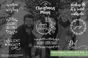 Christmas Photo Overlays Vol 2