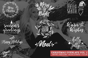 Christmas Photography Overlays