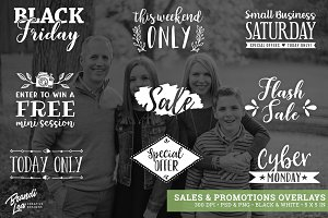 Sales & Promotions Photo Overlays