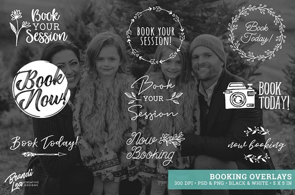 Now Booking Photography Overlays