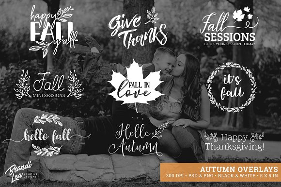 Autumn Photography Overlays in Illustrations