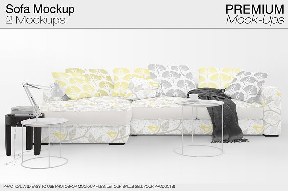 Sofa & Pillows Mockup Pack