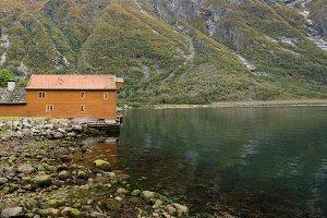 Wooden house in Eidfjord Norway