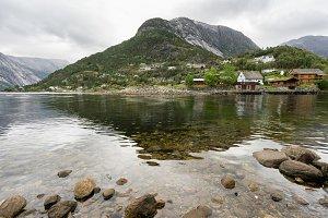 Town of Eidfjord in Norway