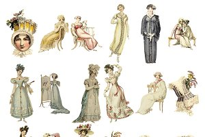 Regency Fashion Image Collection PNG
