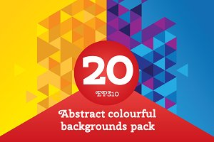 20 Abstract triangle backgrounds
