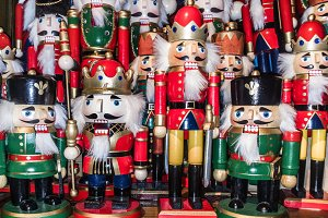 Various Christmas nutcrackers