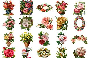 Victorian Diecut Floral Assortment