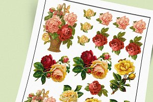 Victorian Roses Sticker Set