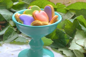 colorful cookies in bowl