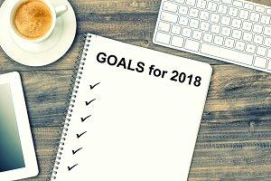 Goals for 2018 Office desk