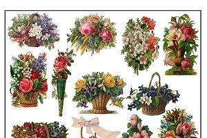 Victorian Diecut Baskets & Bouquets