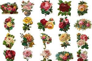 Victorian Diecut Rose Bouquets