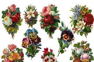 Victorian Diecut Floral Bouquets