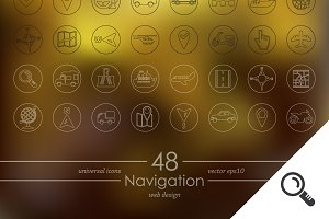 48 NAVIGATION icons