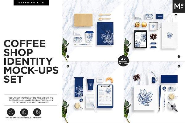 Branding Mockups: Mocca2Go - Coffee Shop Identity Mock-ups Set
