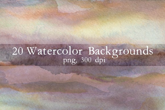 20 Watercolor Backgrounds